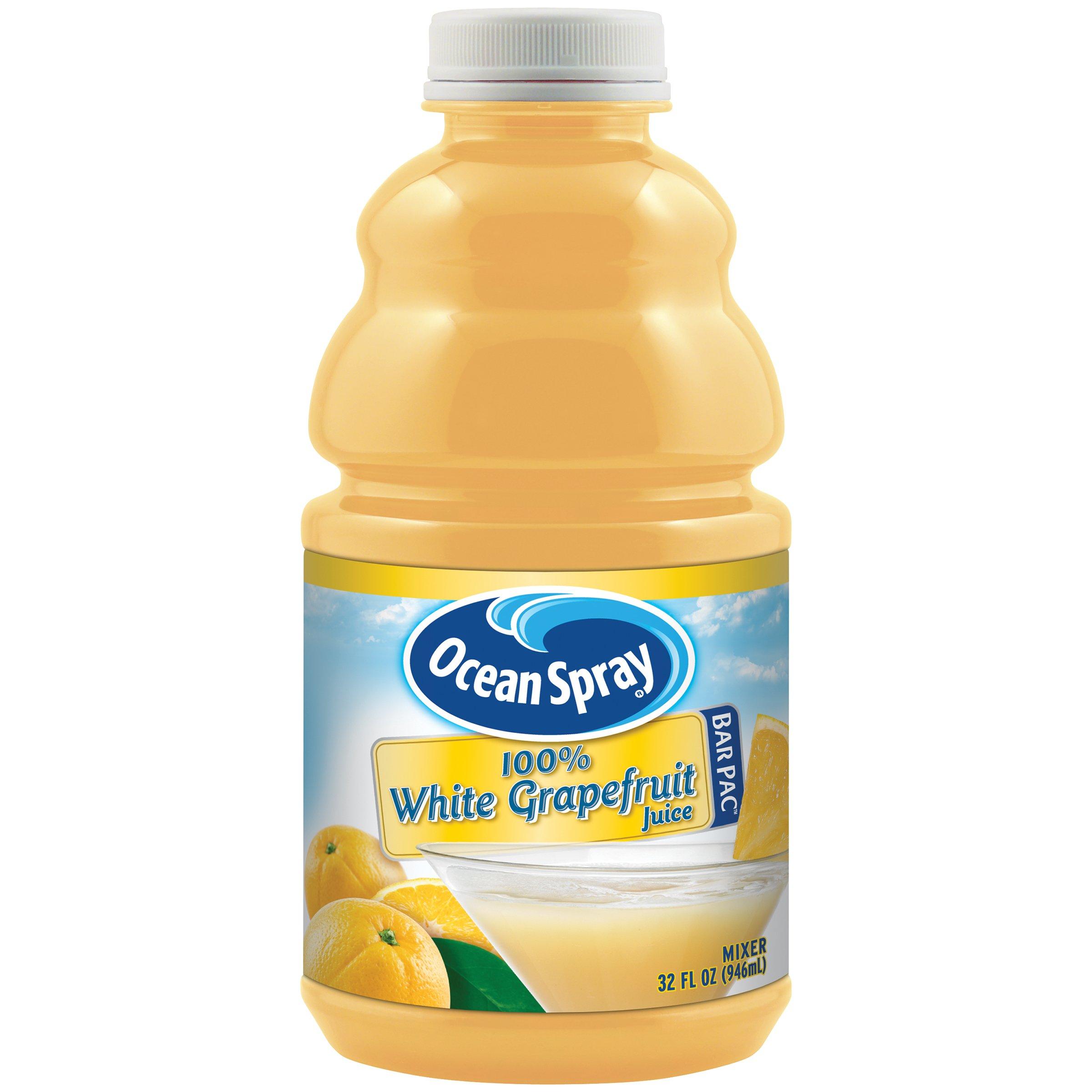 Ocean Spray 100% White Grapefruit Juice, 32 oz., Pack of 12 by Ocean Spray