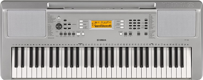 Yamaha YPT-360 - Teclado portátil, color plata
