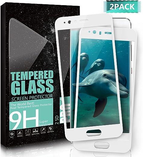 Kiomi Vetro Temperato Huawei P10, [2-Pack] Copertura Completa Pellicola protettiva Bordi Arrotondati da 2.5D, Resistente ai graffi Alta Definizione 9H Durezza Screen per Huawei P10 - Bianco