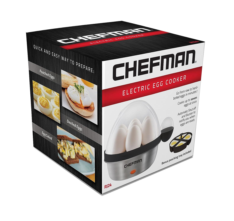 Chefman, Electric Egg Cooker, Black