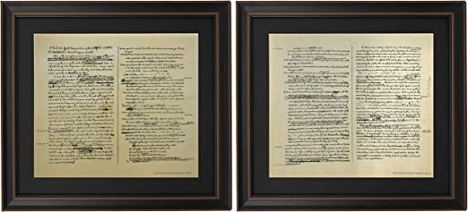 Framed Constitution /& Declaration of Independence SET Home And Office Decor