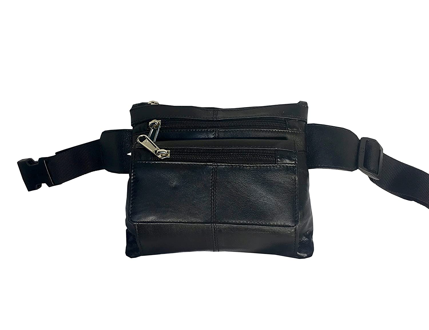 Ice Canada RFID Genuine Leather Waist Pack Money Fanny Belt Sling Bag