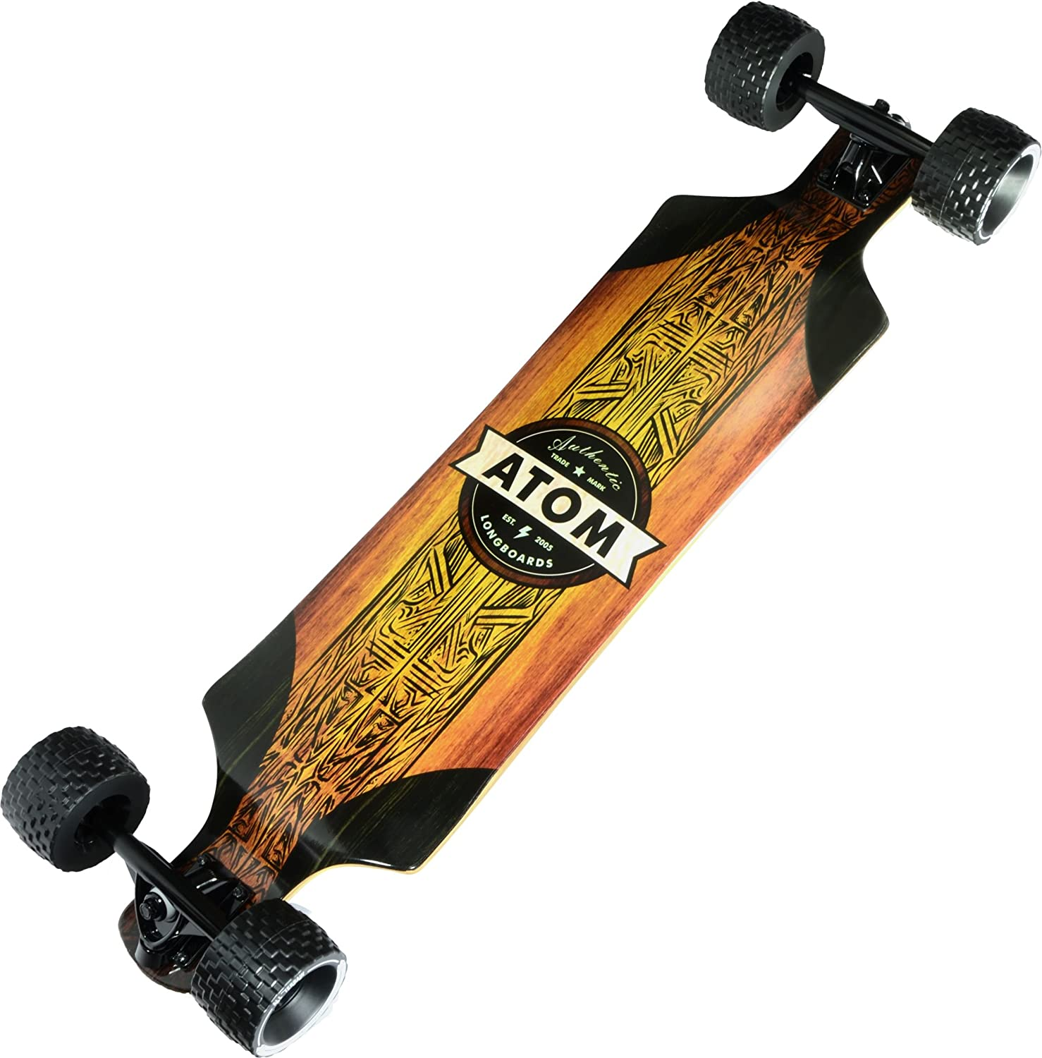 "Atom Longboards Atom All-Terrain Longboard - 39"", Woody"