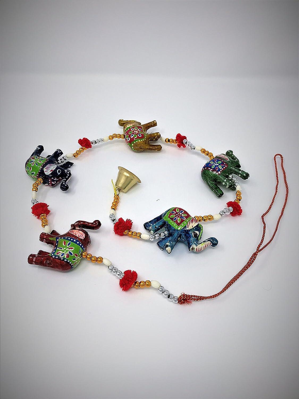 a1sonic /® indio elefantes cadena colgantes de decoraci/ón dise/ño /único con bola en entre 3/elefantes