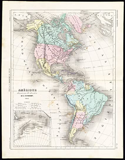 Amazon Com Antique Map North America South America United States