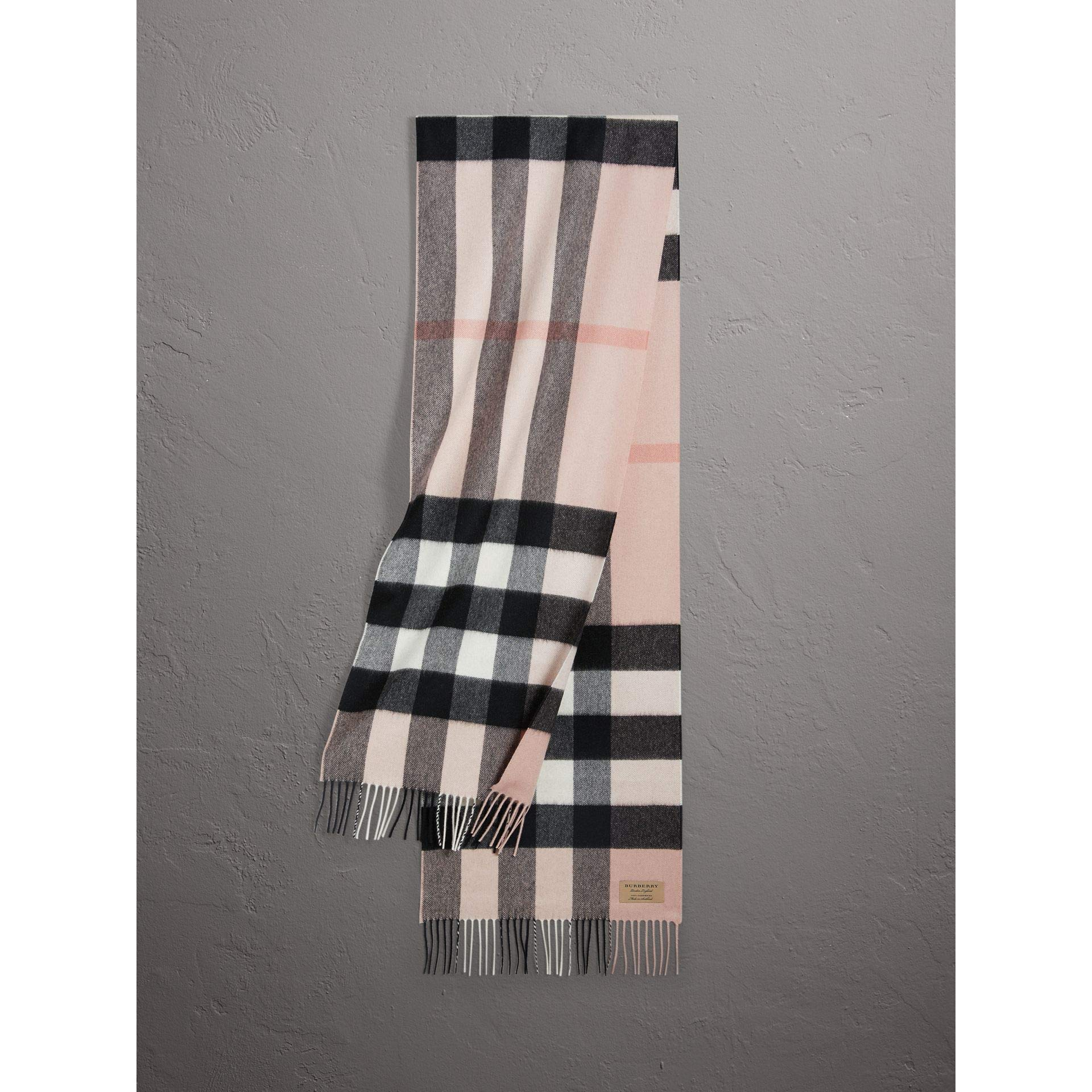 Burberry Women's Large Classic Cashmere Scarf Ash Rose