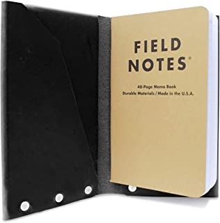 product image for American Bench Craft Leather Passport Holder and Field Notes Cover, Travel Journal (Black)