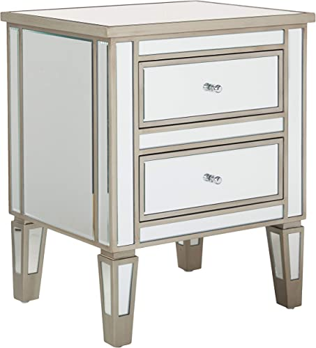 Best Selling A Crafted Mirrored Nightstand Vintage Styling