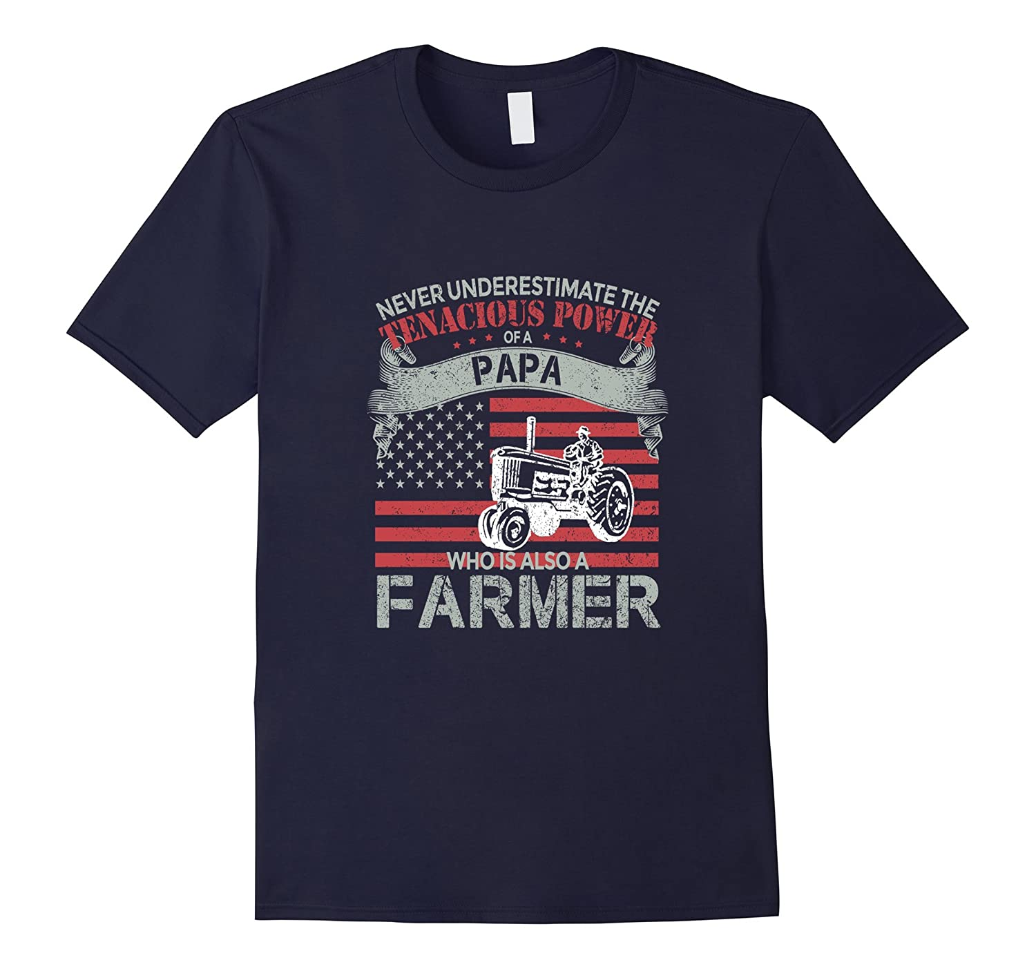 Farmer T-shirt  Never underestimate the power of a Papa who-CD