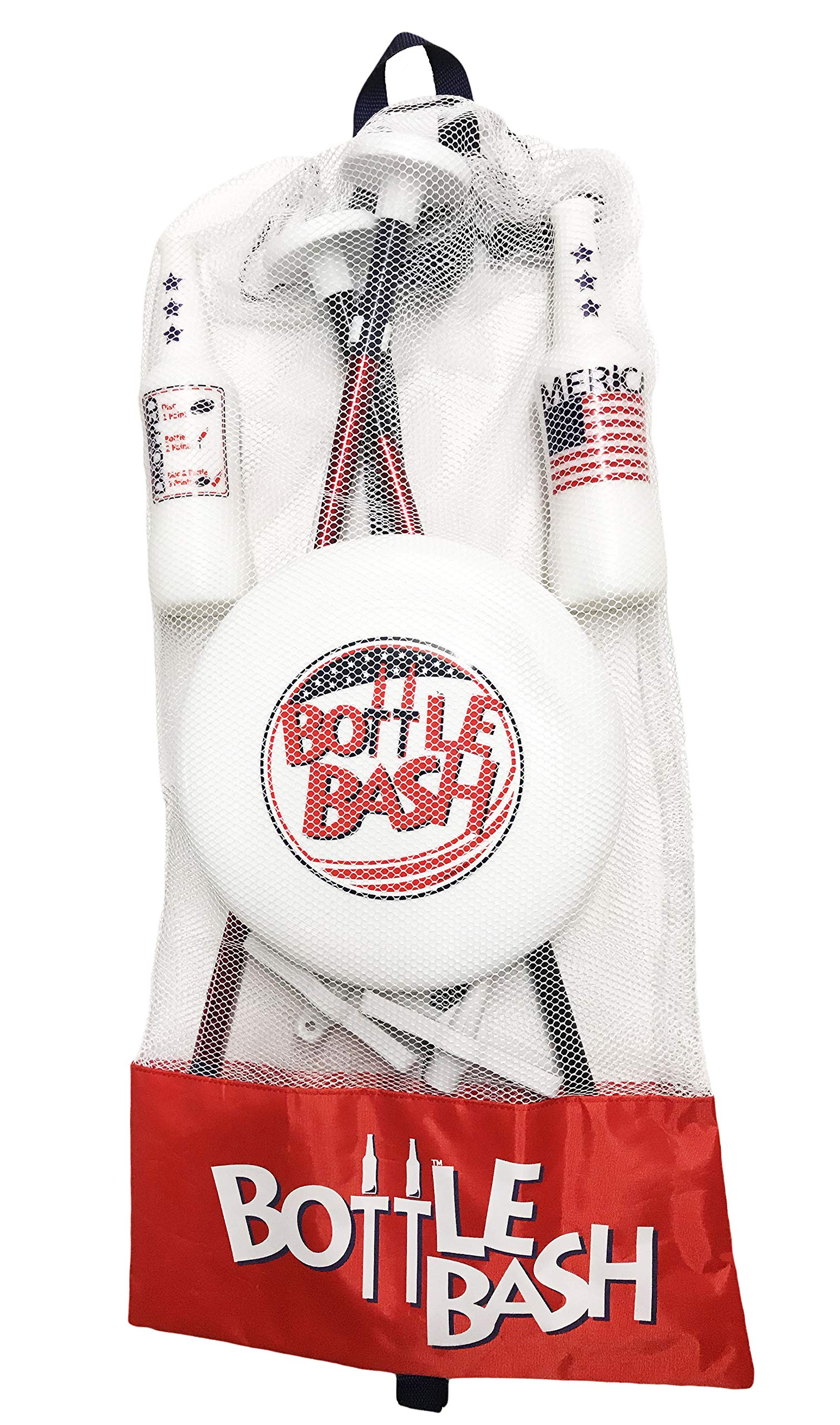 Bottle Bash USA Game Set with Soft Surface Spike (Polish Horseshoes, Beersbee) by Poleish Sports (Image #3)