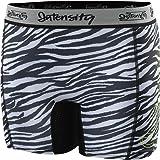 Intensity Girl's Low Rise Sliding Short N5001G (Black/White Zebra, Large)