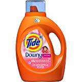 Tide Plus Downy April Fresh Scent HE Turbo Clean Liquid Laundry Detergent, 92 oz, 59 loads (Packaging May Vary)