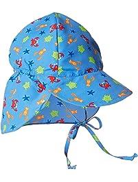 cc96813fcd4 i play. Baby Boys  Flap Sun Protection Print Hat