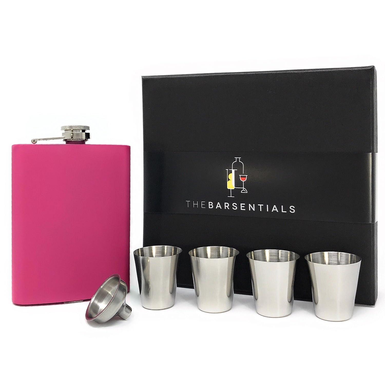 当店の記念日 (Pink) - Steel Stainless Pink 240ml Flask - Set/4 Stainless Steel Shot Cups/Funnel/Gift Box - Perfect for Christmas, Weddings and Birthdays ピンク B078VFDL4N, モンベツチョウ:674ef5dd --- a0267596.xsph.ru