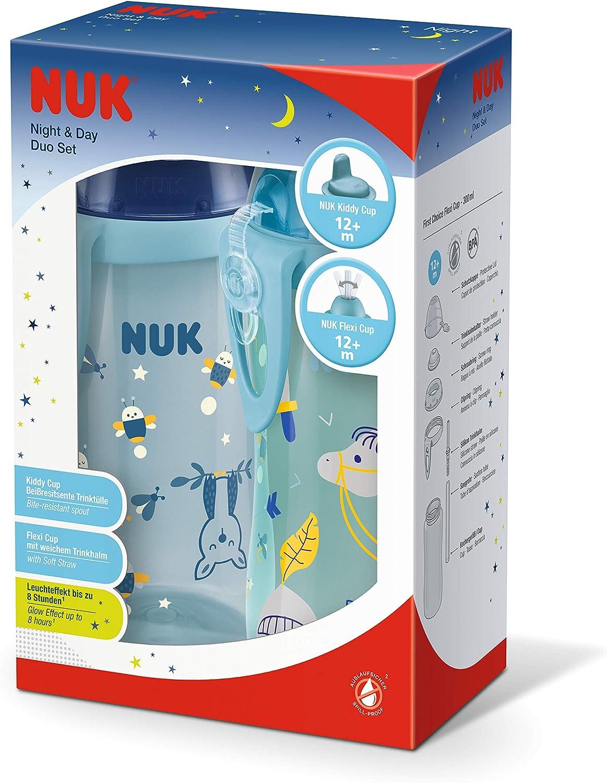 12 meses 300 ml antigoteo NUK 10255556 Night /& Day Duo Set sin BPA azul 223 g
