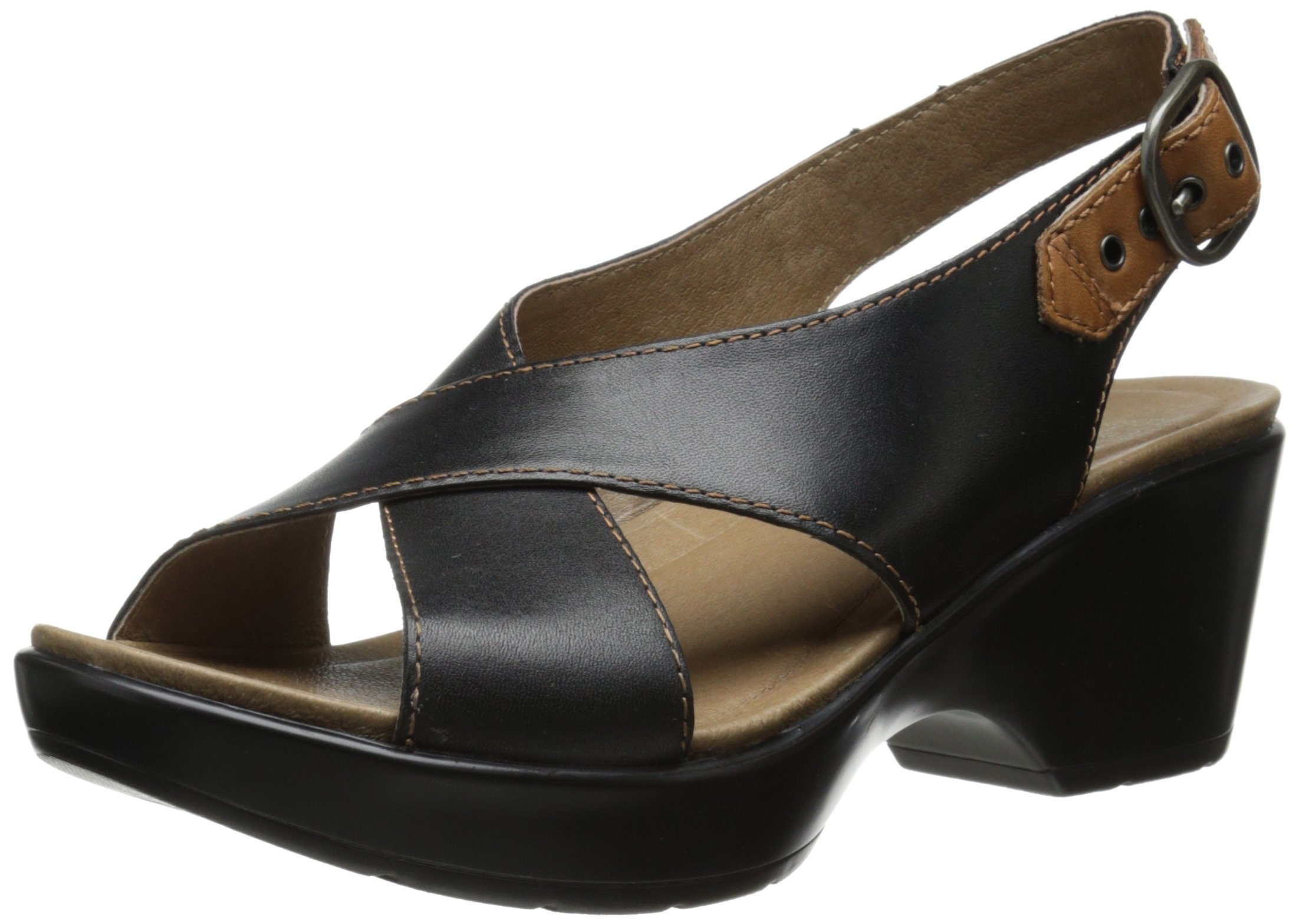 Dansko Women's Jacinda Dress Sandal, Black Full Grain, 40 EU/9.5-10 M US
