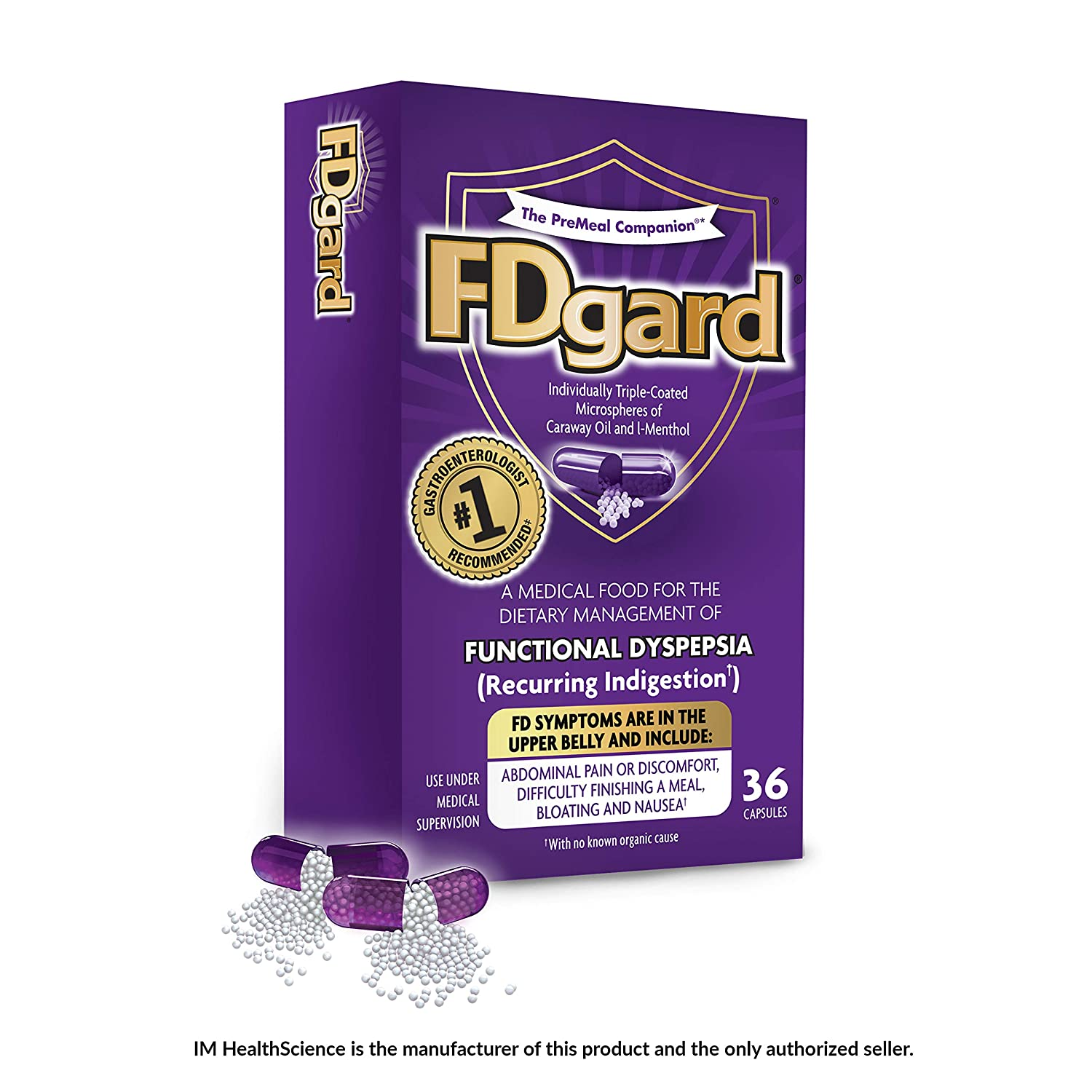 FDgard® for Functional Dyspepsia (Recurring Indigestion) Symptoms  Including, Abdominal Pain &