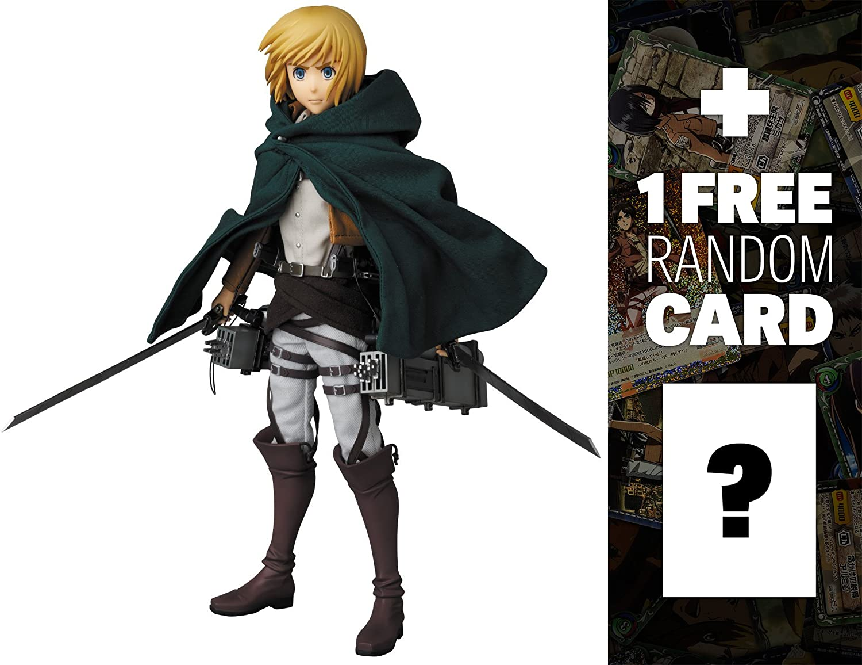 "Armin Arlert (最初本番バージョン) : ~ 11.8 "" Attack on Titan X Real Action Heroes Figureシリーズ+ 1 Free official日本Attack On Titan Tradingカードバンドル[ Rah # 676 ] B00YVM9TGY"