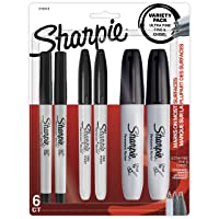 Deals on 6 Count Sharpie Permanent Markers Variety Pack