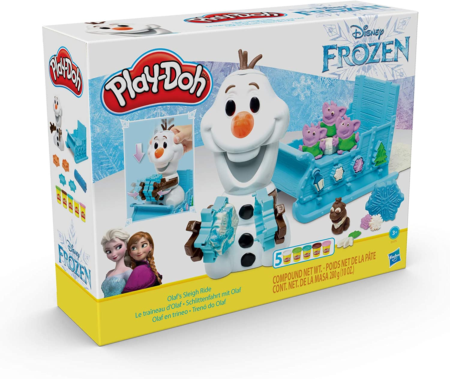 Play Doh Sparkle Compound Play Doh Frozen 2 Olafs Sleigh Ride Playset