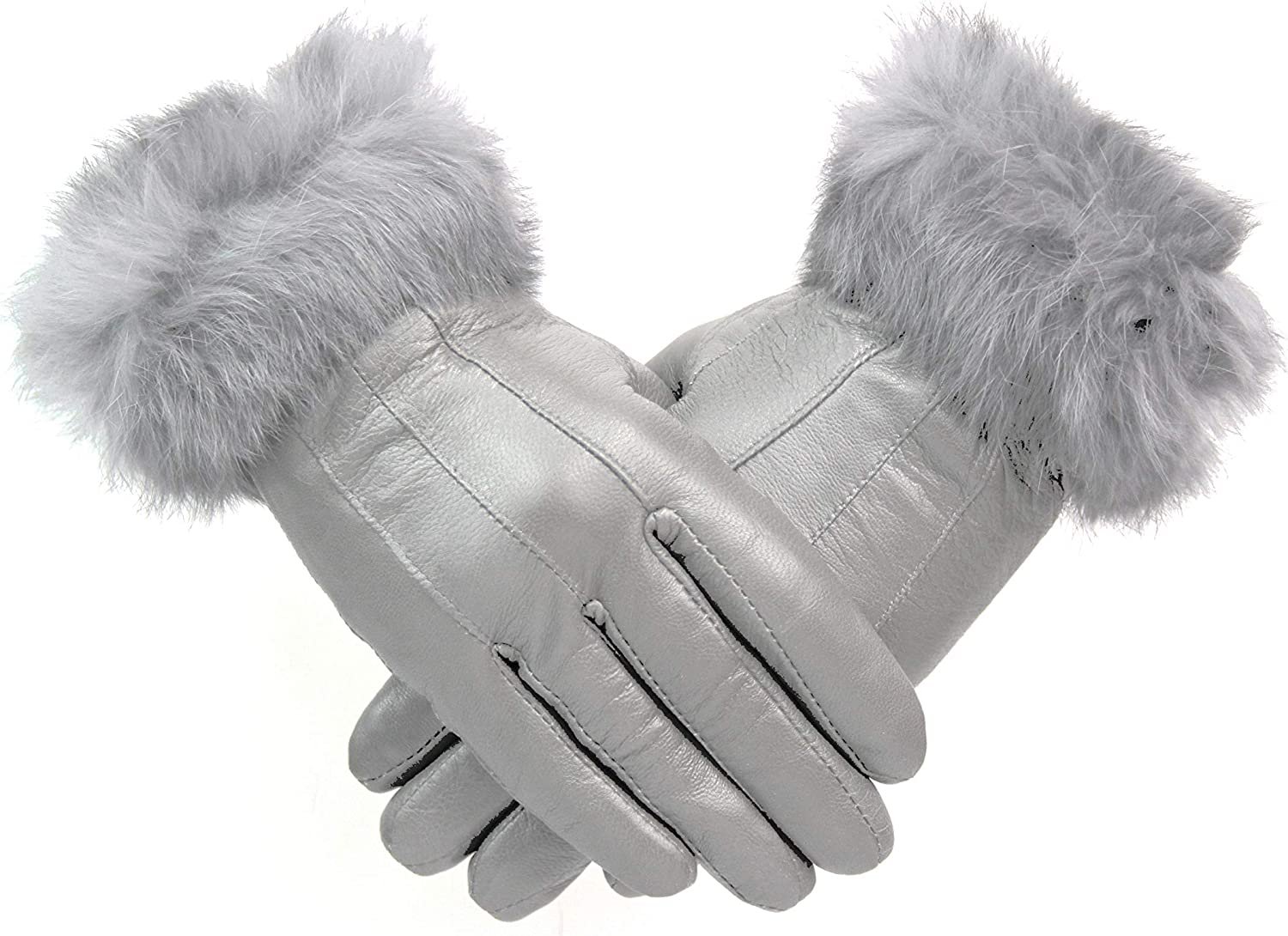 Womens 100/% Leather Winter Gloves With Fur Trim Fleece Lined Ladies Warm Christmas Gift Different Colours M L XL FREE UK POSTAGE
