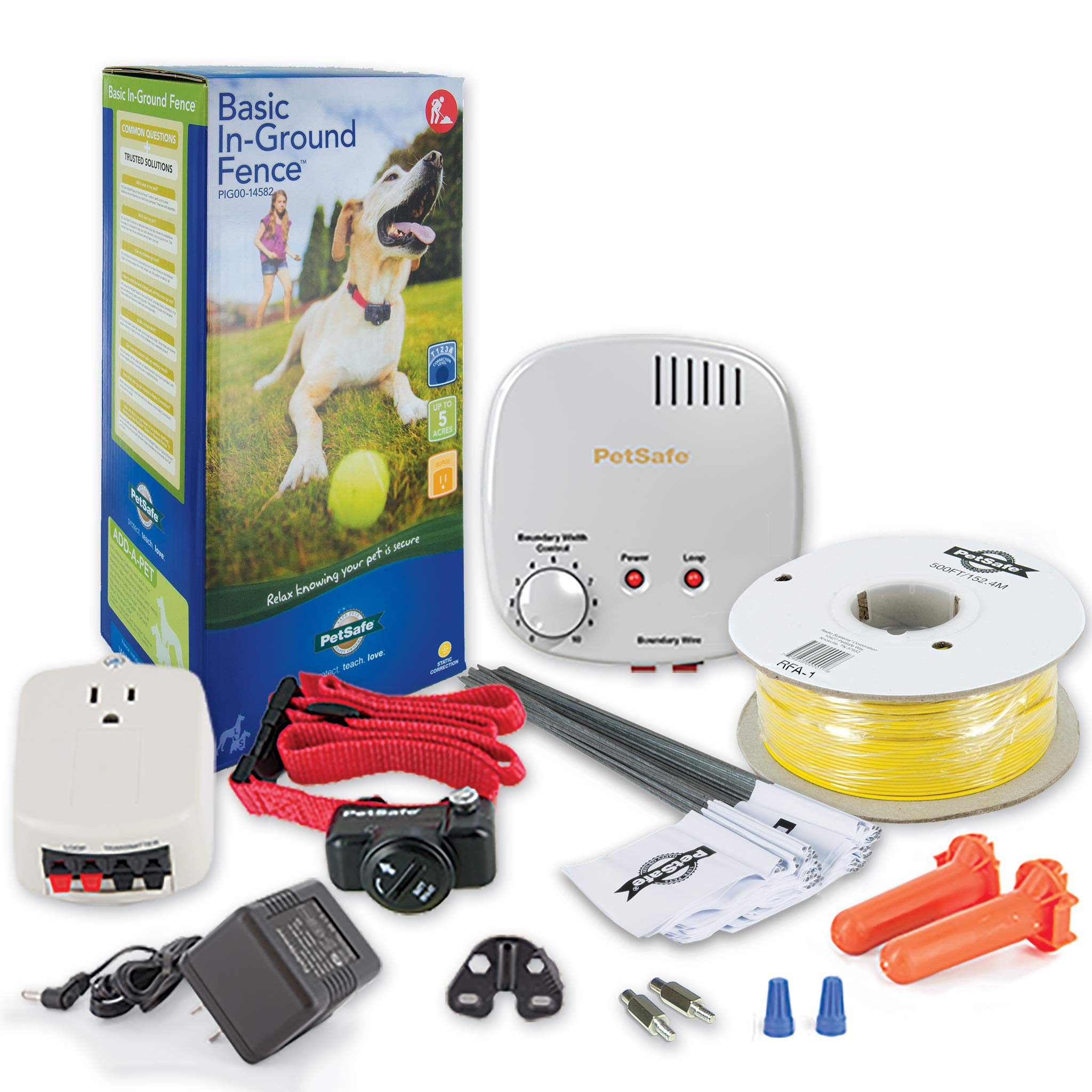 PetSafe Basic In-Ground Dog and Cat Fence - from The Parent Company of Invisible Fence Brand - Underground Electric Pet Fence by PetSafe