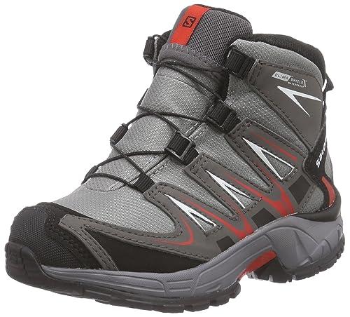 SalomonXA Pro 3D Mid K - Zapatillas de Trekking y Senderismo de Media caña Niños-Niñas: Amazon.es: Zapatos y complementos