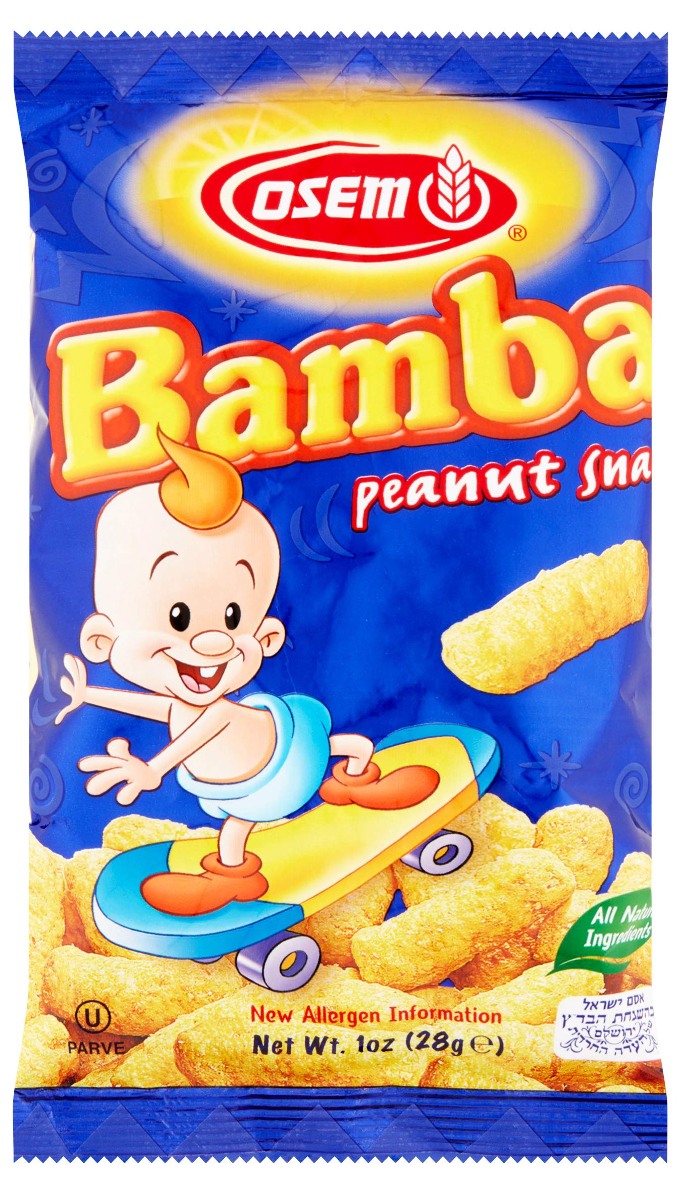 Bamba Peanut Butter Snacks All Natural Peanut Butter Corn Puff Snack (2 Family Packs) (Pack of 16 x 0.7oz Bags) by Osem (Image #2)