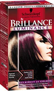 schwarzkopf brillance coloration permanente luminance ultra violet 860 - Coloration Rouge Sans Ammoniaque