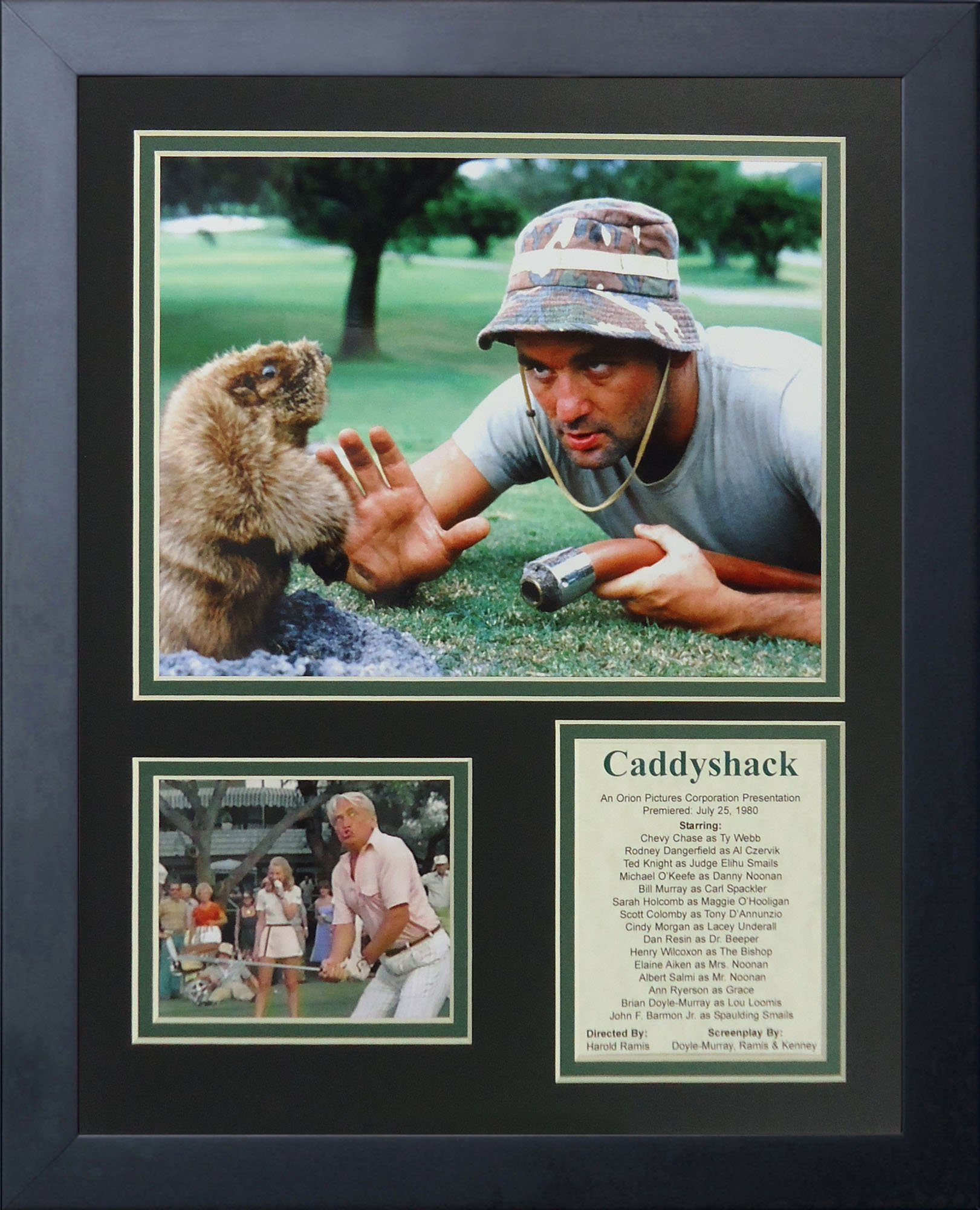 Legends Never Die Caddyshack Framed Photo Collage, 11x14-Inch by Legends Never Die
