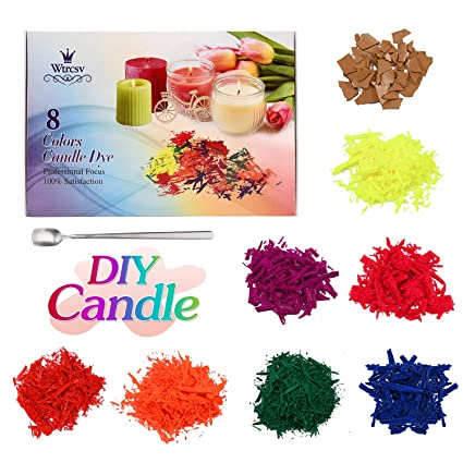 8 Color Candle Wax Dye(10g/0.35oz Each, Total 2.8oz), Wtrcsv Candle Making  Supplies Soy Wax Coloring Dye for Candle Molds Candle Wax for Candle Making  ...