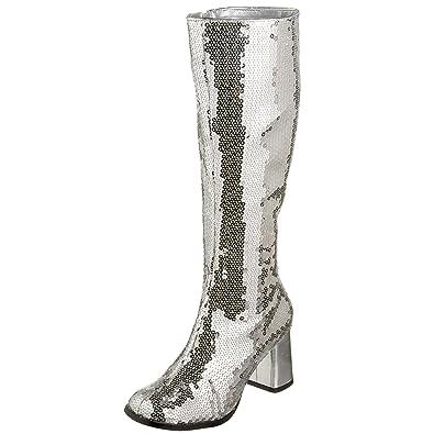06f305c7d05a Pleaser Bordello Women s Spectatcular-300 Sequin Gogo Boot
