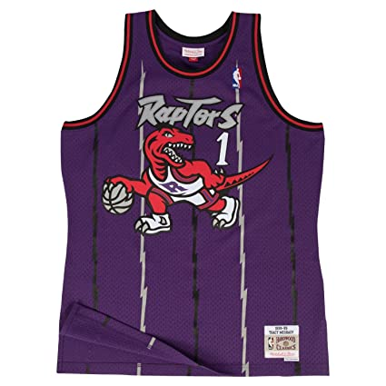 835c3338f Mitchell   Ness Tracy McGrady Toronto Raptors Black Throwback Swingman  Jersey 5XL