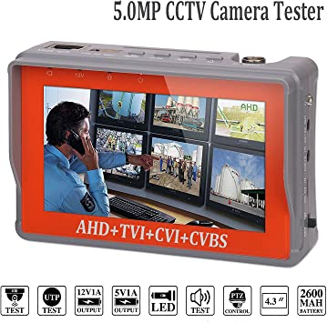 """4.3/"""" LCD Monitor Video//Audio//UTP Test CCTV Tester DC 12V Output Security Camera"""