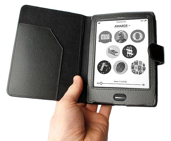 DURAGADGET Funda Negra Elegante De Piel para eBook KOBO Touch con ...