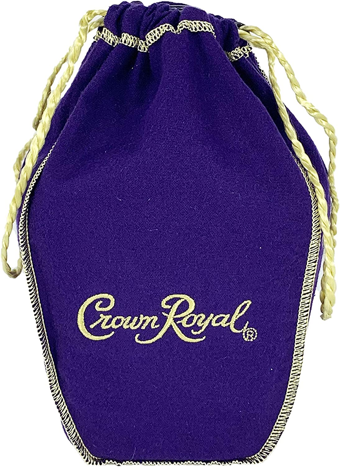 Crown Royal Bag only with Drawstring | Retired and Select Colors and Brands (Purple with Happy Holidays)