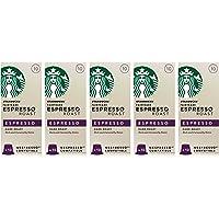 Starbucks 星巴克 公平贸易浓缩烘焙咖啡便携胶囊咖啡,5盒装,共50粒胶囊