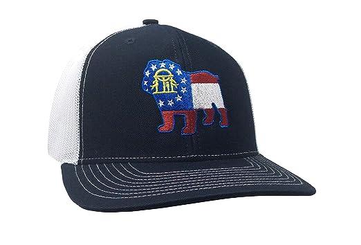 fe274b2a2 Heritage Pride Georgia Flag Bulldog Embroidered Trucker Mesh ...