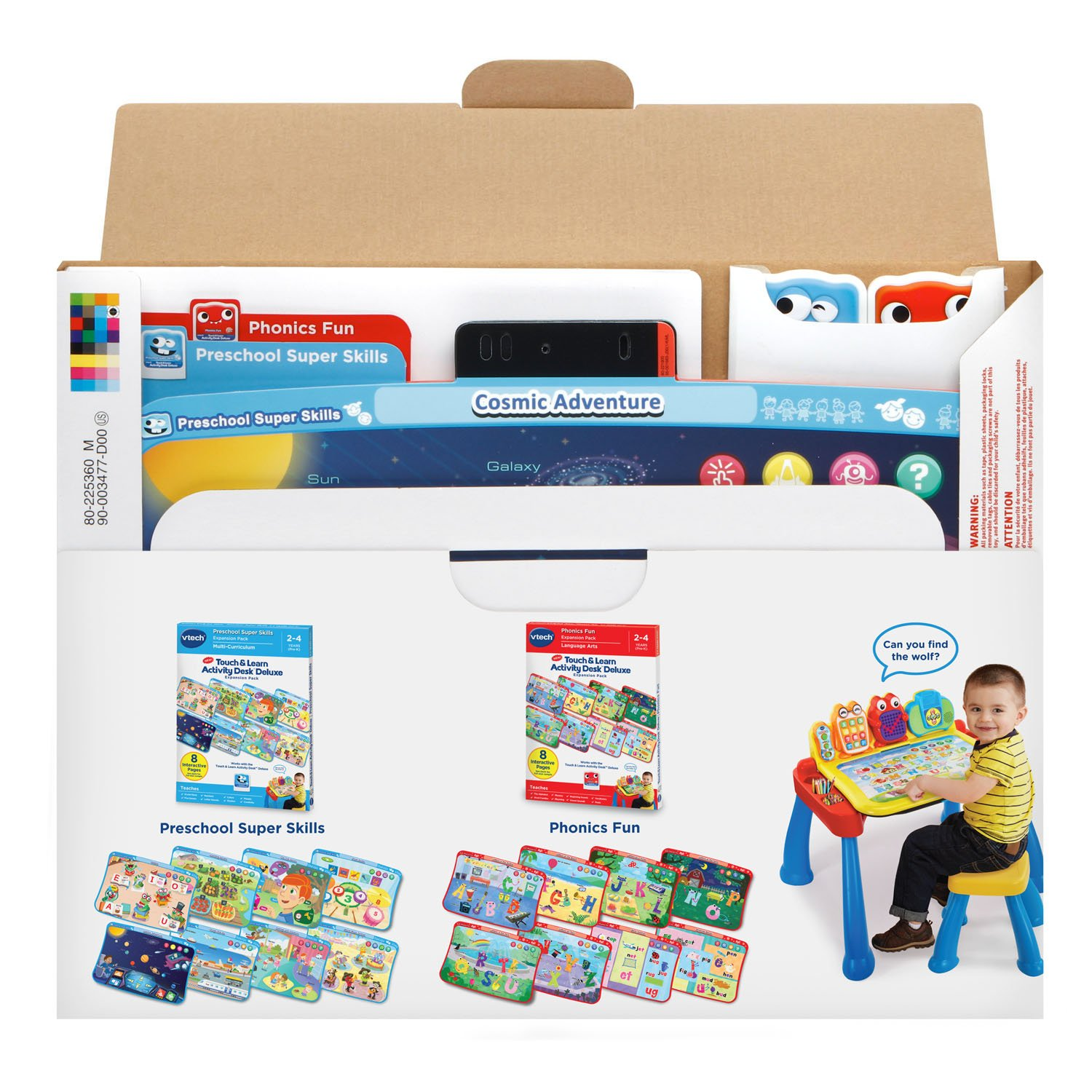 VTech Touch & Learn Activity Desk Deluxe 2-in-1 Preschool Bundle Expansion Pack for Age 2-4 by VTech (Image #5)