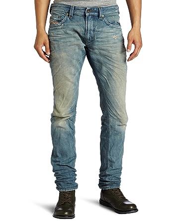 8ce9fdd2 Diesel Men's Thavar Slim Skinny Leg Jean 0888P, Denim, 34x32: Amazon ...