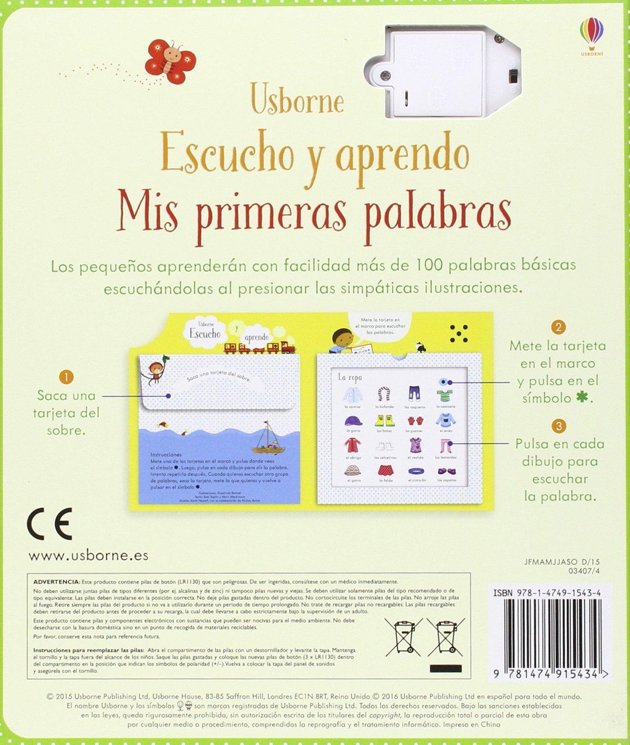 MIS PRIMERAS PALABRAS ESCUCHO Y APRENDO: TAPLIN S/ MACKIN: 9781474915434: Amazon.com: Books