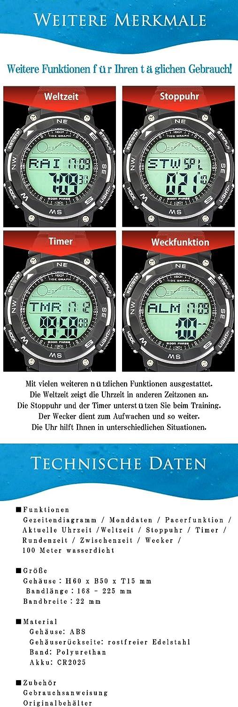 Lad Weather] Mareas Diagrama Reloj Fases de Luna Ebbe Foco Pacer ...