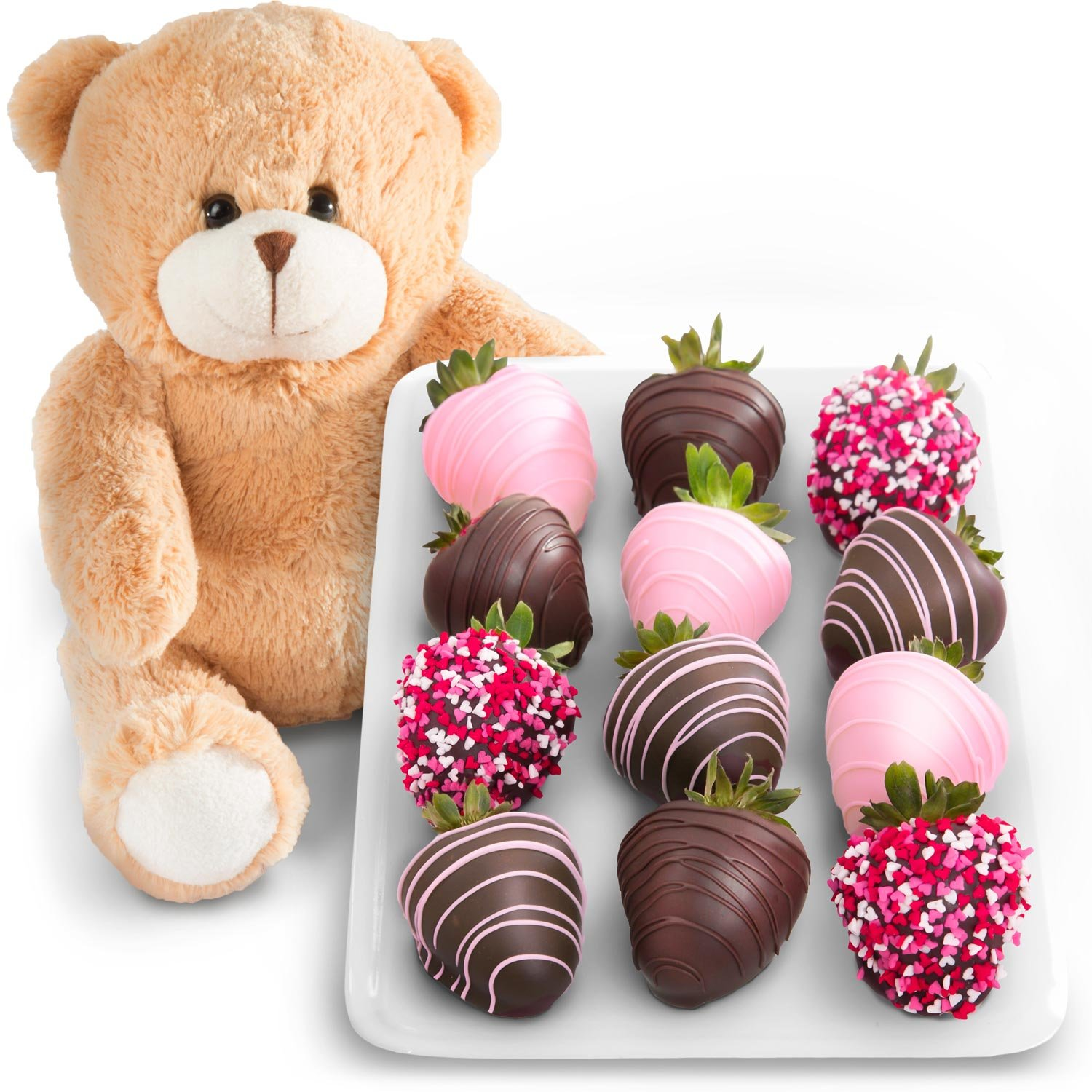 Amazon.com : Golden State Fruit 12 Love Berries Chocolate Covered ...