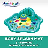 SwimSchool Splash Play Mat, Inflatable Kiddie Pool with Backrest for Babies & Toddlers, Includes Three Toys (SSI11262Z)