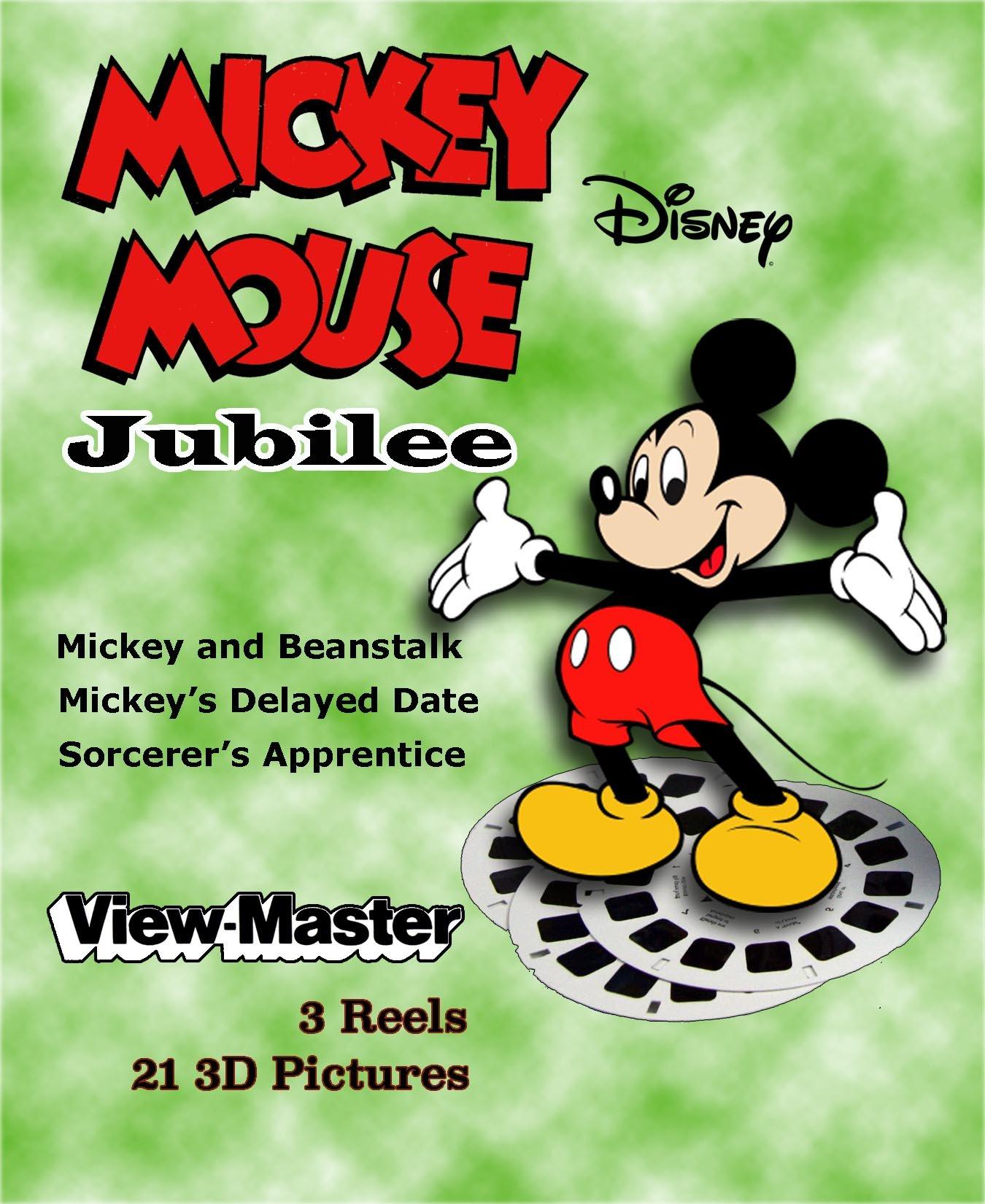 ViewMaster Disney's MICKEY MOUSE JUBILEE - 3 Reels - 3 Stories