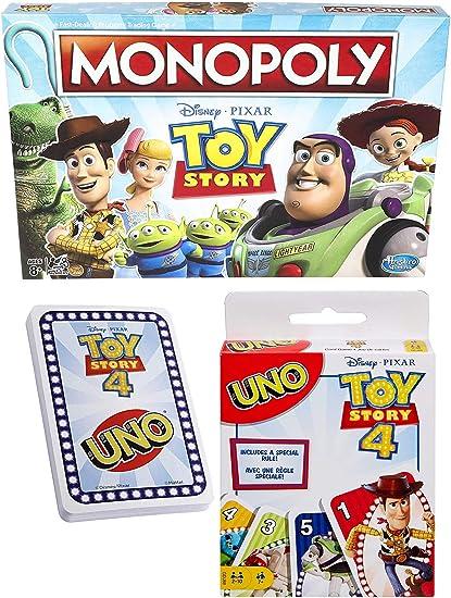 Woody & Buzz Game Night Edition Classics Monopoly Board Toy Story Edition - Juego de cartas a juego (2 unidades): Amazon.es: Juguetes y juegos