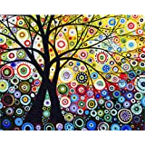 """iCoostor Paint by Numbers DIY Acrylic Painting Kit for Kids & Adults Beginner - 16"""" x 20"""" Love Tree Pattern"""