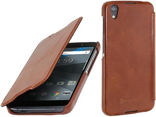 2 opinioni per StilGut Book Type Case, custodia in pelle cover per BlackBerry DTEK50. Chiusura