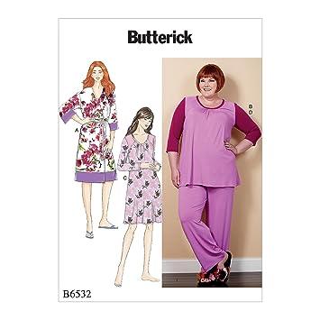 Butterick Patterns 6532 RR Damen Bademantel/Band/Top/Kleid und Hose ...