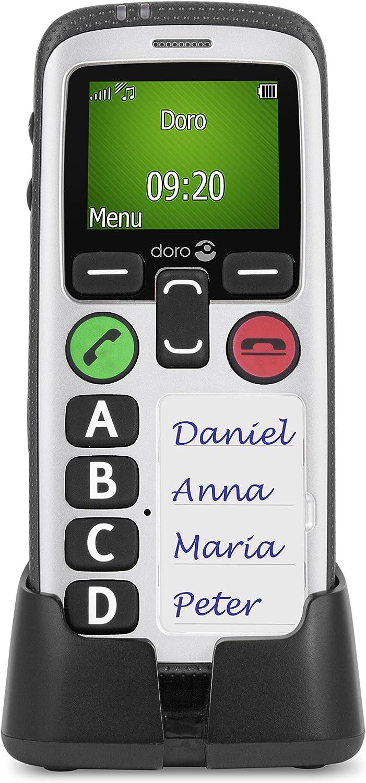 Doro Secure 580 Teléfono Móvil (128 x 160 Pixeles, Single SIM, MicroSIM, 3G, GSM, UMTS, 2.1, 3,5 mm), Negro/ Blanco